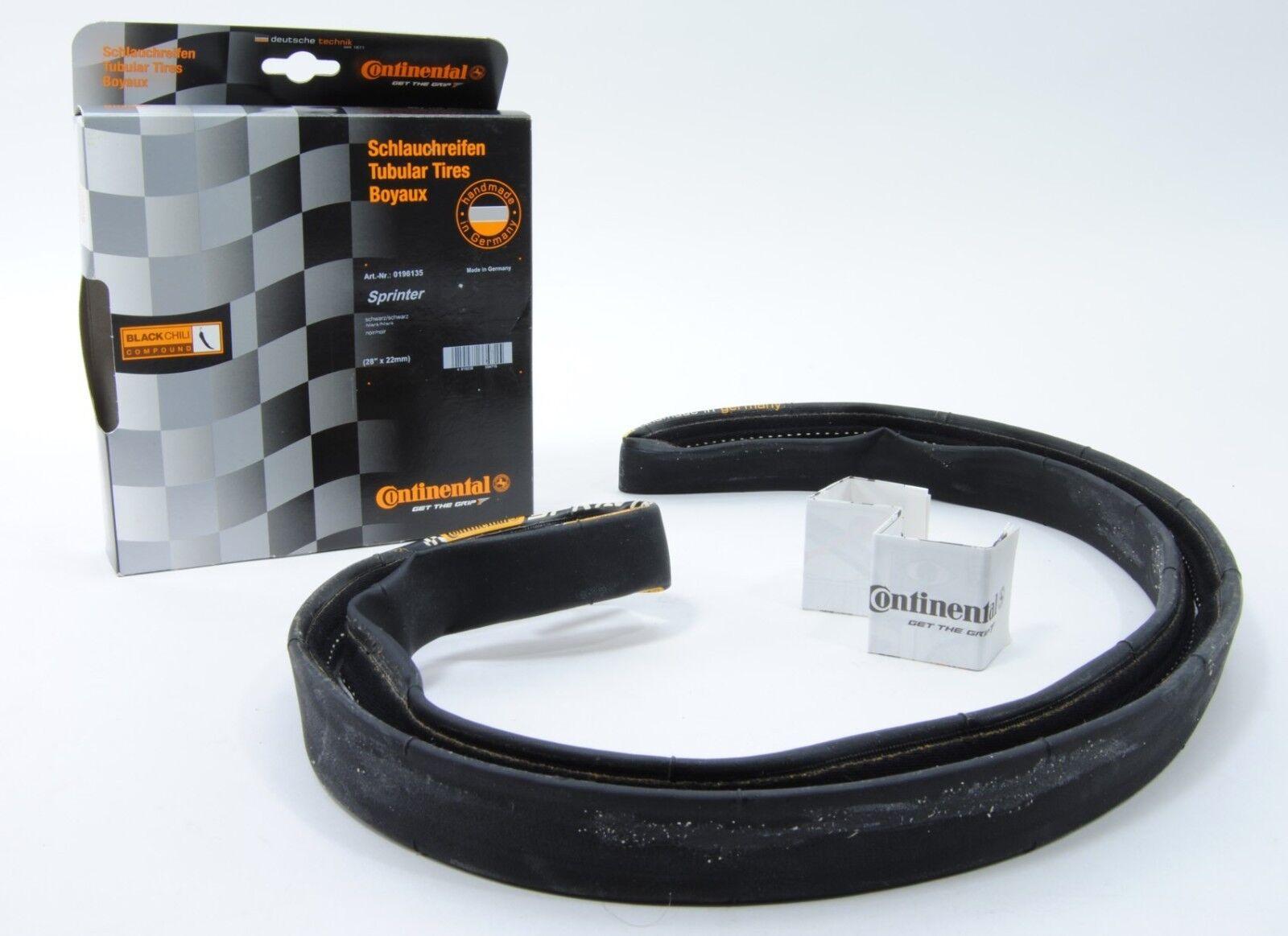 Continental Sprinter Tubular 700x25//28x25 Tire Black Chili