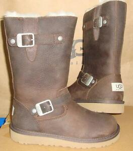 1765d18fc7e Details about UGG Australia Kids KENSINGTON Brown Toast Leather Boots Size  US 2 NIB #1969 K