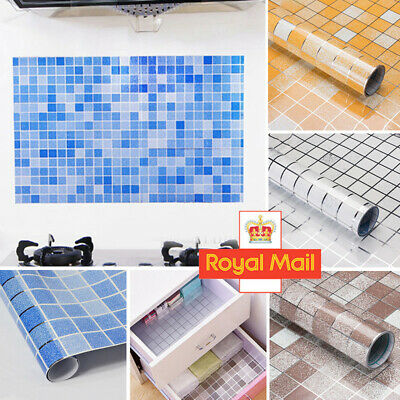 1* Kitchen Waterproof Anti-Oil Stick On Wall Tile Decal Sticker Self-adhesive 2M