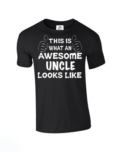A.UNCLE,TSHIRT Awesome Uncle looks like Funny T Shirt Fathers Day Birthday