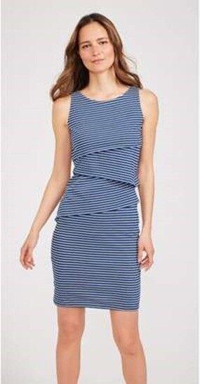 J. McLaughlin Catalina Cloth Sleeveless Nicola Dress Navy Stripe XL NWT