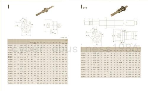 1 set DFU1605--1000mm Anti-backlashed Ballscrew RM1605 Dual Ballscrew