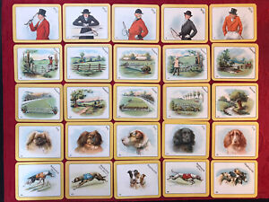 1926-CARRERAS-THE-GREYHOUND-RACING-GAME-FULL-52-CARD-SET-TOBACCO-CARDS-NRMINT