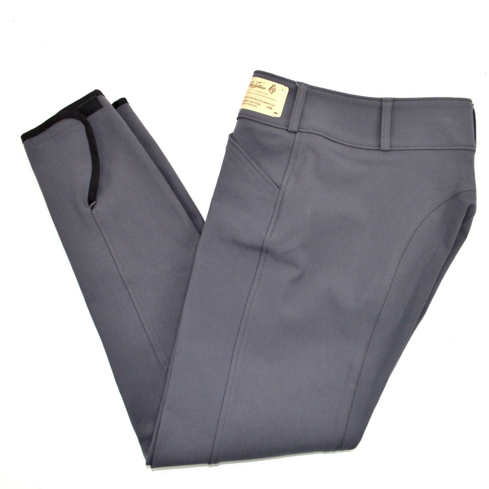 Tailored Sportsman Low  Rise Front Zip Trophy Hunter Breeches - 1967 - Battleship  clients first reputation first