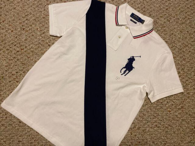 NWT Polo Ralph Lauren Big Pony Mesh Polo SHIRT T-SHIRT Custom Slim Fit L, M