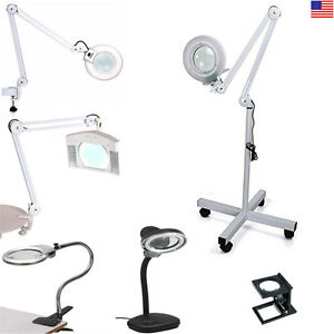 Professional Magnifying Magnifier Lamp Light Free Standing Clamp Table Desk Top Ebay