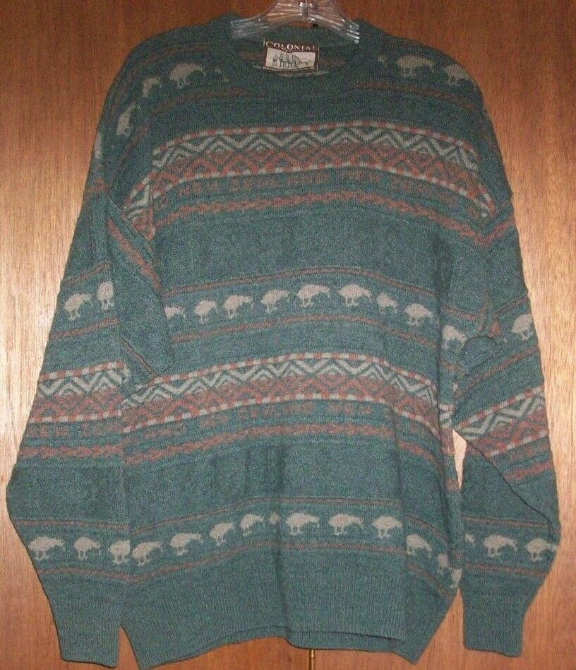 Mens KIWI Bird NEW ZEALAND SWEATER Colonial Concepts Heritage 100% New WOOL XL