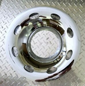"1 15/"" 2pc 5x4.5/"" BP Chrome Trailer Wheel Hub Cap Rim Covers"