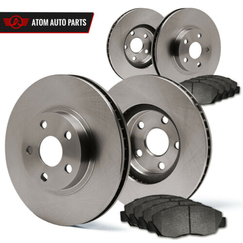 2011 Suzuki SX4 w//Rear Disc Brakes Rotors Metallic Pads F+R OE Replacement