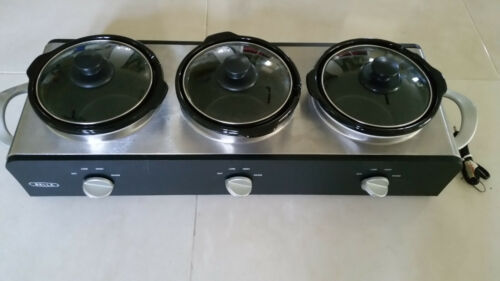 Bella Food Triple Slow Cooker Buffet and Server PRE-OWNED