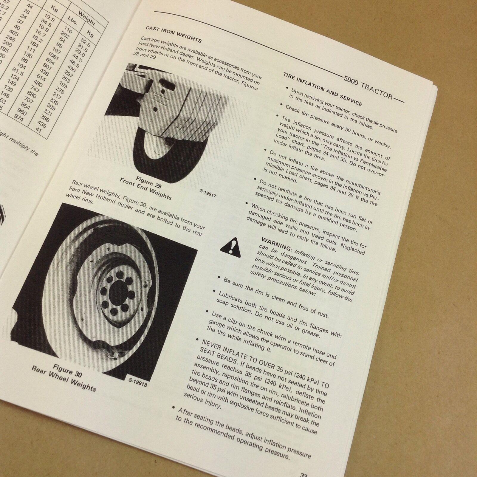 Ford 5900 Tractor Operators Owners Manual Maintenance Operation Print  Adjust   eBay
