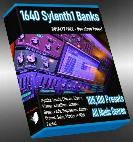 Sylenth 105,100 Presets Soundbanks LOGIC ABLETON FL STUDIO CUBASE REASON SONAR