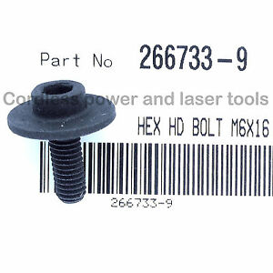 Makita DLS713Z Mitre Saw Blade Clamping HEX HD Screw Bolt Clamp Part 266733-9