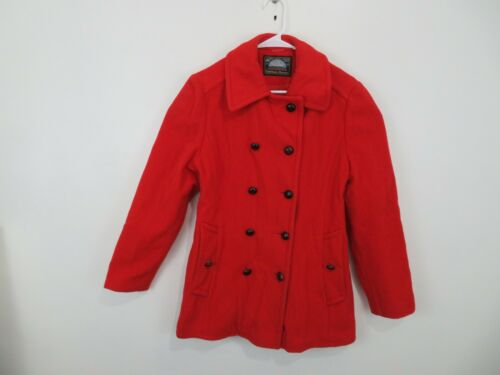 Mackintosh Red Double Breasted Wool Peacoat Coat J
