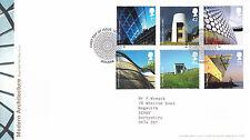 20 GIUGNO 2006 ARCHITETTURA MODERNA ROYAL MAIL FIRST DAY COVER London EC3 SHS (A)