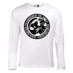 Panther-Round-Panthere-Animals-Wild-Nature-Long-Sleeve-T-Shirt