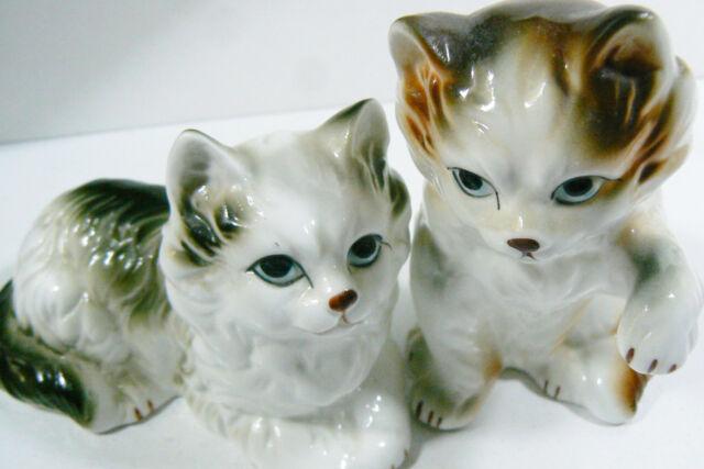 Set of 2 Vintage Fine Bone China Persian Cat Figurine made in Taiwan