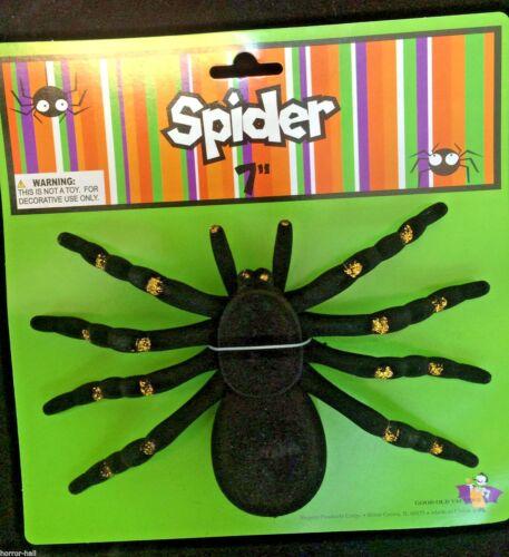 2pc-Realistic Flocked-GIANT TARANTULA SPIDERS-Black Widow Gothic Prop Prank Joke