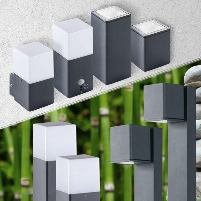 LED Gartenleuchte Aluminium Wandleuchte Wegeleuchte außen mit Bewegungsmelder