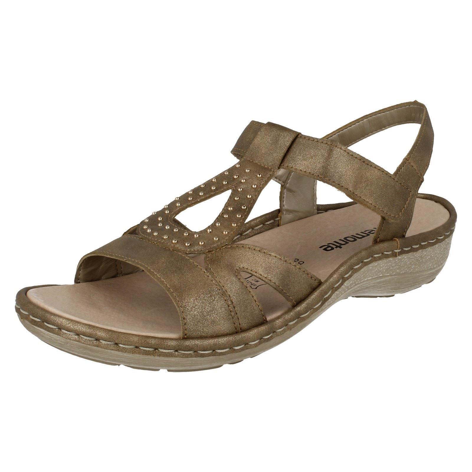 Remonte Dorndorf D7657 D7657 D7657 Ladies gold Slingback Sandals 030fd6