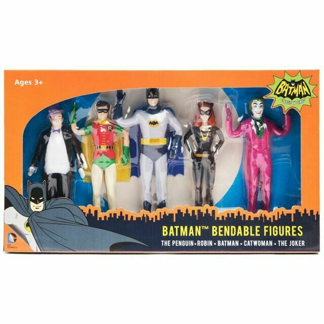 NJ Croce Batman Classic TV Riddler Bendable Figure