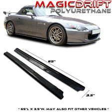 """65"""" x 3.5"""" UNIVERSAL FIT Flat Side Skirts Extension Lip Urethane S2000 MR2 Civic"""