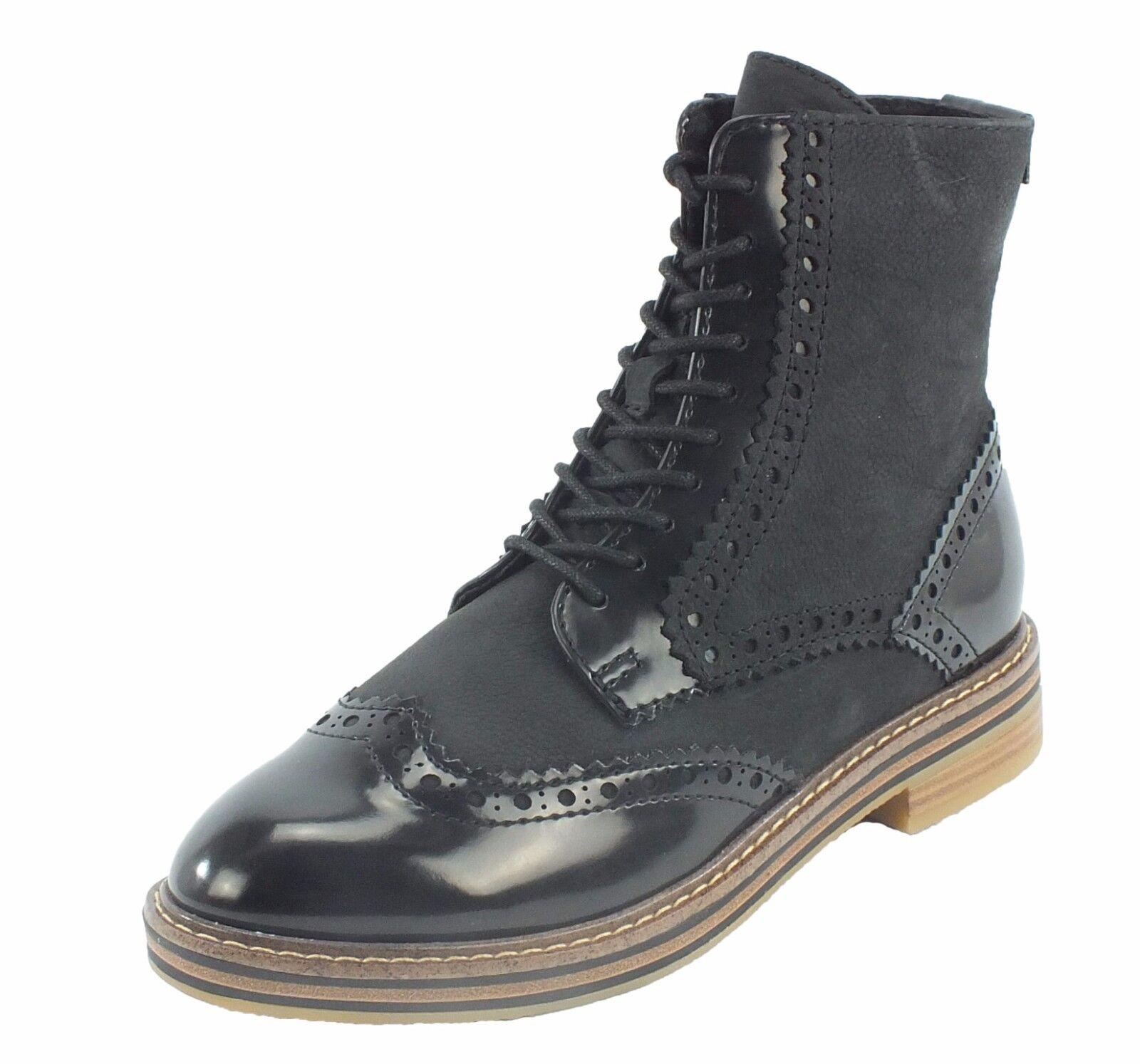 Marco Tozzi Leder Stiefel Stiefelette schwarz 7451