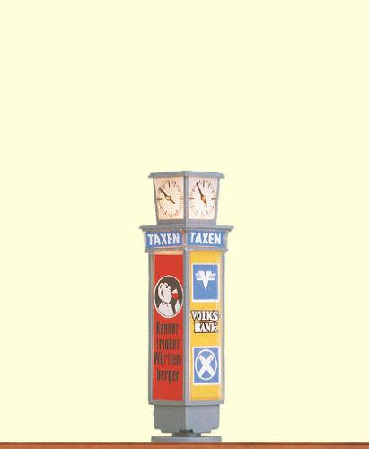 BRAWA 5761 traccia h0-pubblicità con loghi pilastro con Orologio #neu in OVP #