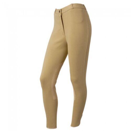 34R Light Tan Ladies Comfort Riders Breeches w// Clarino Knee NWT