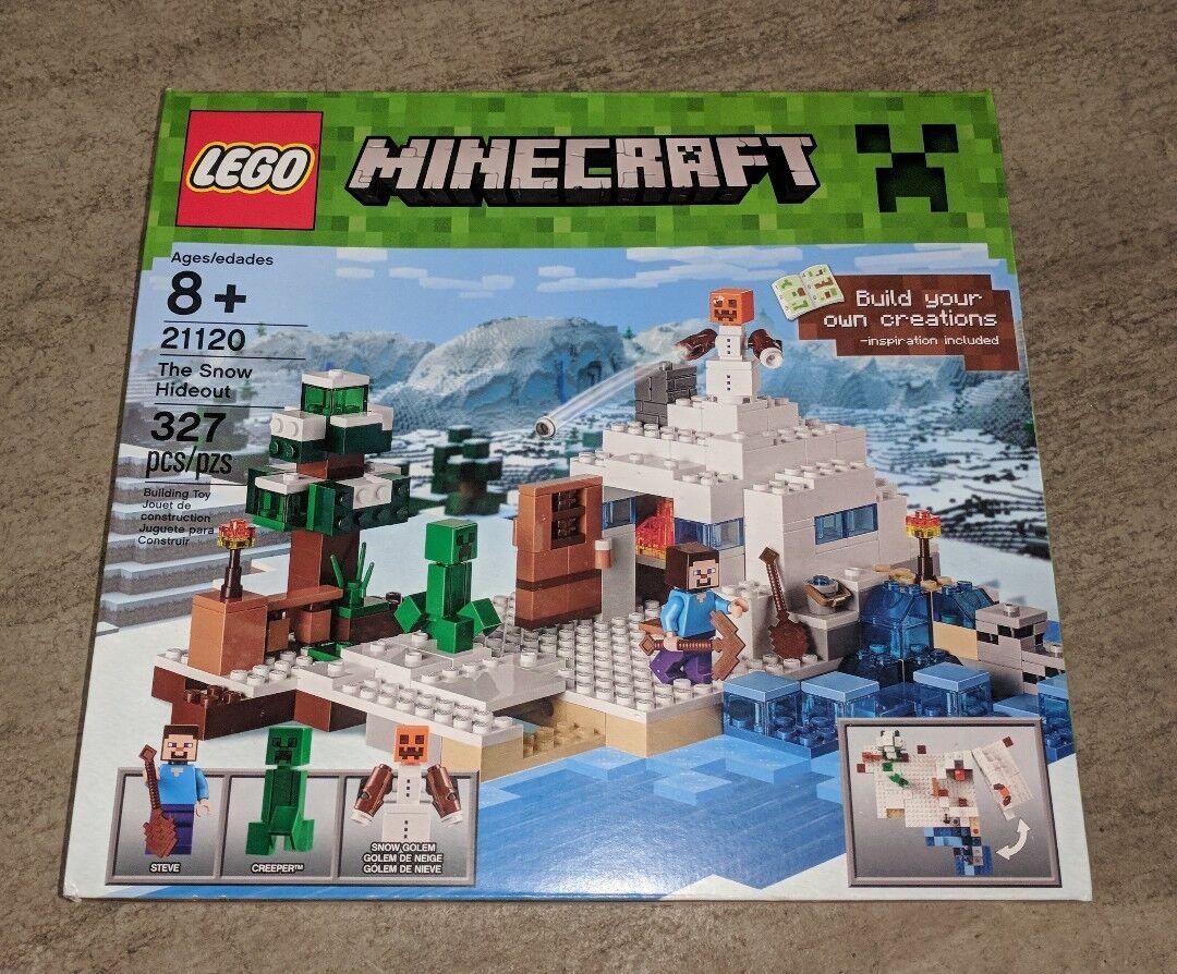 LEGO Minecraft The Snow Hideout Building Play Set 21120 BRAND NEW NIB Sealed HTF