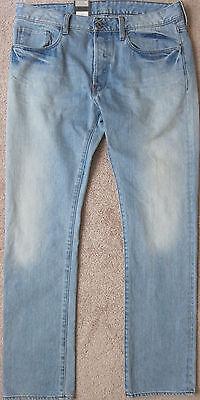 Retail $120 G-Star RAW Men/'s 3301 Straight Light Aged Grey Denim Shorts