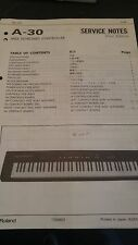 Roland A-30 Service Notes, Used But In Good Condition