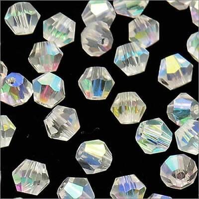 Lot de 40 Perles Tchèques Toupies en Cristal 4mm Orange