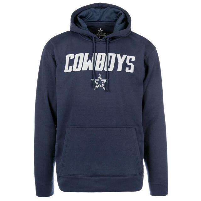 the latest 62a07 283e8 Dallas Cowboys NFL Men s Blue Hooded Hoodie Logo Sweatshirt, Size Large -  NWT