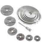 6pcs HSS Rotary Circular Mandrel Saw Cutting Discs Blades Tool For Cutoff Tool