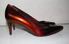 Stuart Weitzman Women's Plum/Rust Pointed Toe Patent Leather Pump Sz 7 NWOB $385