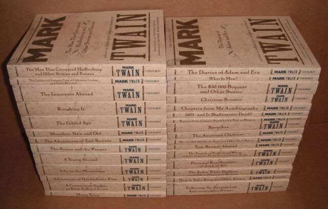 The Oxford Mark Twain Full Set - 29 Books 2009, Paperback NEW