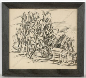 Boris-Deutsch-1892-1978-034-Landscape-a-la-Cezanne-034-drawing-1926