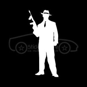Gangster Sticker Mobster Retro Crime Decal Mafia