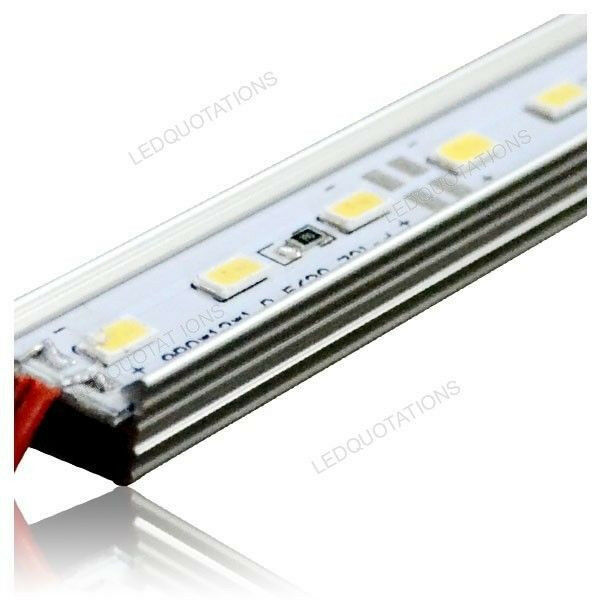 50CM DC 12V 36 LED 5630 SMD Hard Strip Car Bar Light Aluminum Shell Multi Color