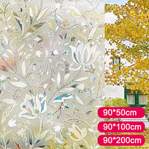 Graceful Frosted 3d Static Glass Decorative Vinyl Privacy Window