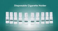 10pcs Disposable Cigarette Holder Filter Ash Filtration Double Filter Adsorption