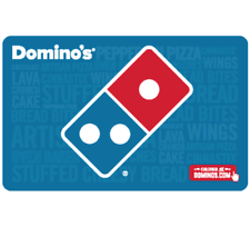 Buy a $30 Domino's Gift Card for only $25 - Fast Email Delivery