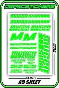 MUGEN SEIKI RC STICKER SHEET 1//8 BUGGY 1//10 CAR MTX6R MBX7R MRX6 GT ECO GREY