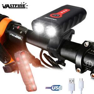 Bicicleta-carretera-Ciclismo-Luz-delantera-USB-Recargable-con-senal-luz-trasera