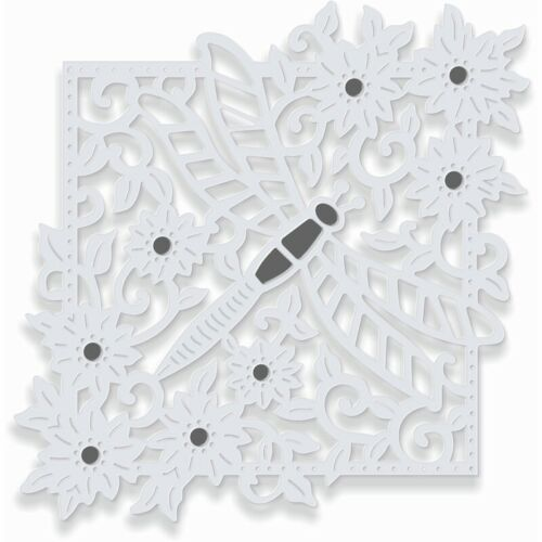 New Sweet Dixie  Metal Sue Dix Cutting Die Dragonfly Square