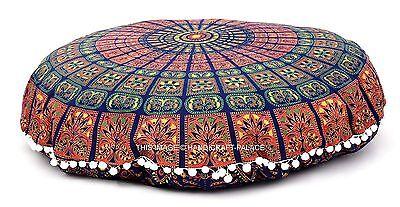 "Mandala Indian Round Floor Cushion Cover Meditation Yoga Pillow Ottoman Pouf 32"""