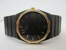 Genuine Men's 18K solid yellow gold and Gun metal Concord Mariner SG new battery