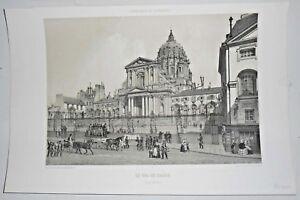 Gravure-Paris-1861-Lithographie-Le-Val-de-Grace