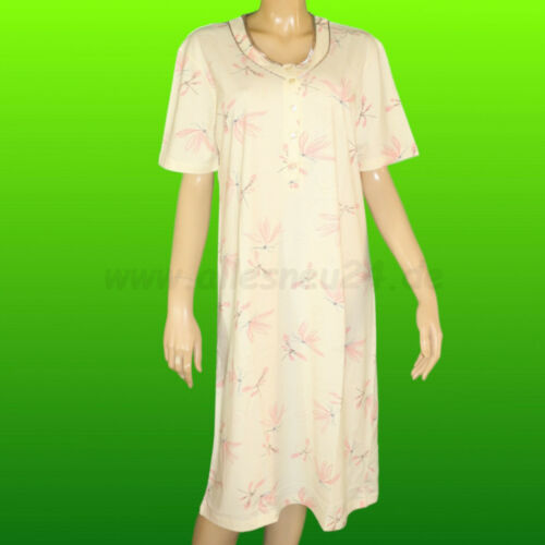 Damen Nachthemd mit 1//4 Arm Baumwolle Gr. 40//42-52//54 von Hajo in 2 Farben